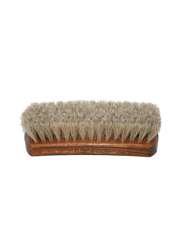 Щетка для полировки обуви 20,5 см, натуральный ворс, светлая щетина