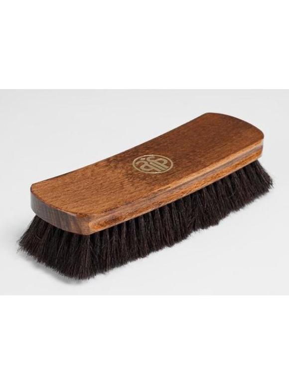 13631 SAPHIR Щетка для полировки обуви 17 см, натуральный ворс, темная щетина